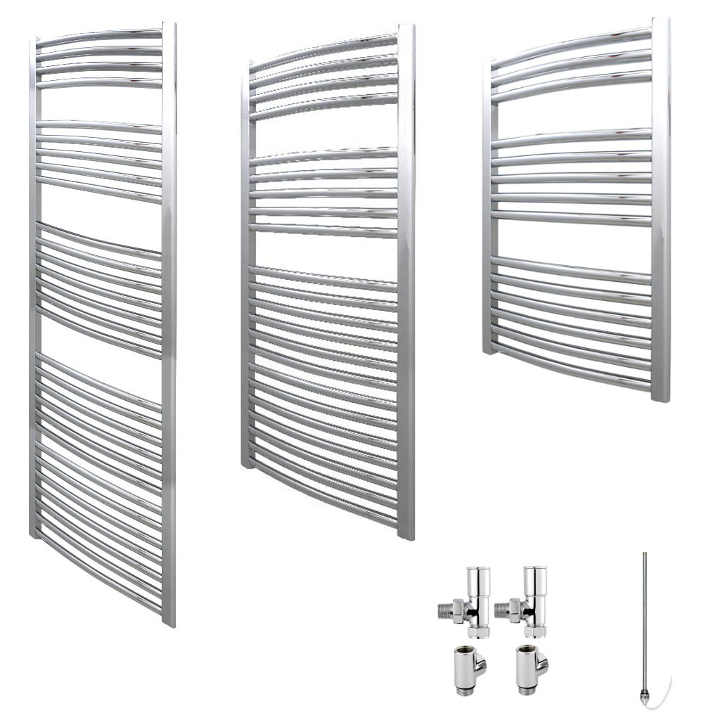 Aura 25 Curved Dual Fuel Towel Warmer Chrome