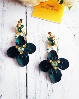 Création Solalbijoux boucles d'oreilles Exhubérance florale