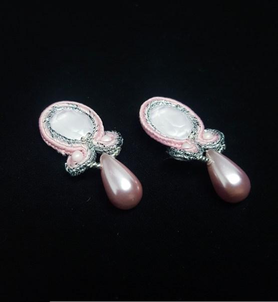 Boucles d'oreilles clips roses pâles Solal Bijoux Haute Fantaisie