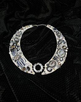 Solal Bijoux Haute Fantaisie collier d'apparat argent