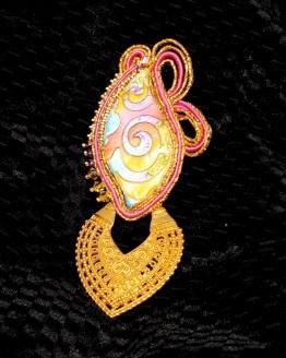 Solal Bijoux Haute Fantaisie bijou nomade orange rose et or