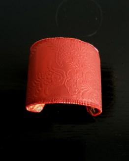 manchette et manchon réversible rouge Solal Bijoux Haute Fantaisie