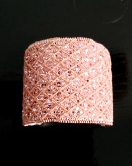 manchette et manchon réversible rose Solal Bijoux Haute Fantaisie