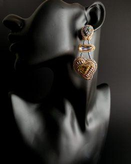 Boucles d'oreilles doré et lilas Solal Bijoux Haute Fantaisie