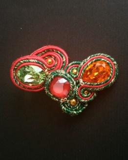 Bijou nomade vert rouge et orange Solal Bijoux Haute Fantaisie