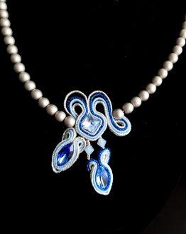 Collier bleu et argent Solal Bijoux Haute Fantaisie