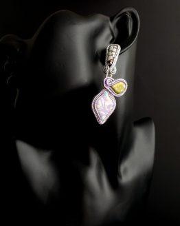 Boucles d'oreilles parme Solal Bijoux Haute Fantaisie