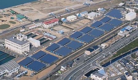 西之浦浄水場の太陽光発電所