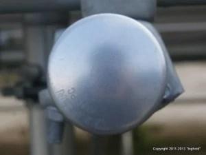 タキゲンの単管パイプ架台:パイプのキャップ