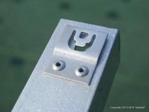 ソーラーパネルを取り付けるためのフック・金具