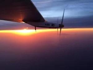 南京から名古屋に向かう途中の上空 (写真:Solar Impulse)