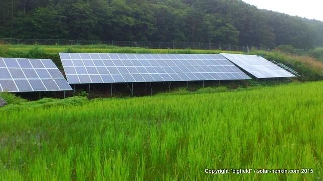 単管パイプ架台による太陽光発電所