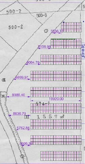 太陽光2号基のストリング&レイアウト設計・当初案(73.44kW)