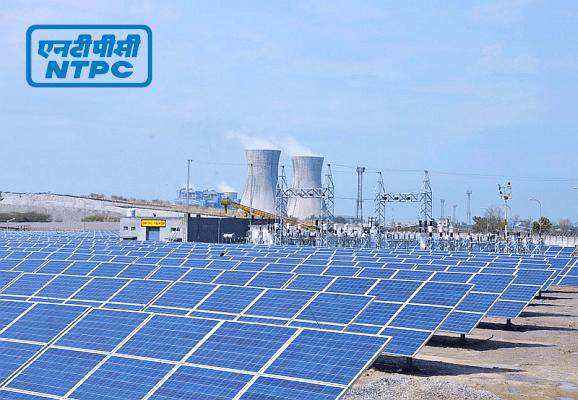 Работа угольной электростанции и солнечного парка компании NTPC