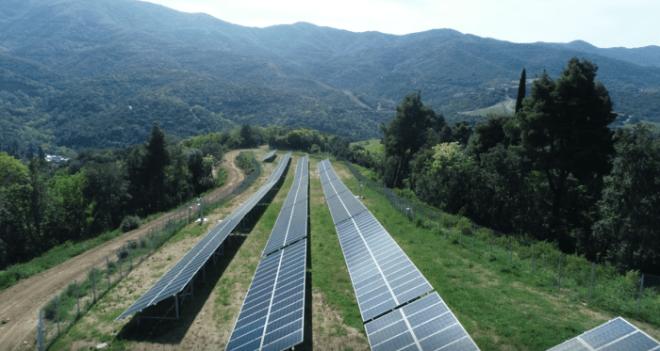Солнечная электростанция, монастырь Ватопед
