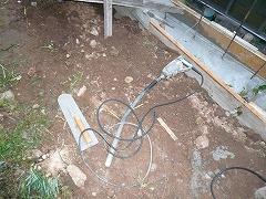 コンクリートをならす際に使用した工具