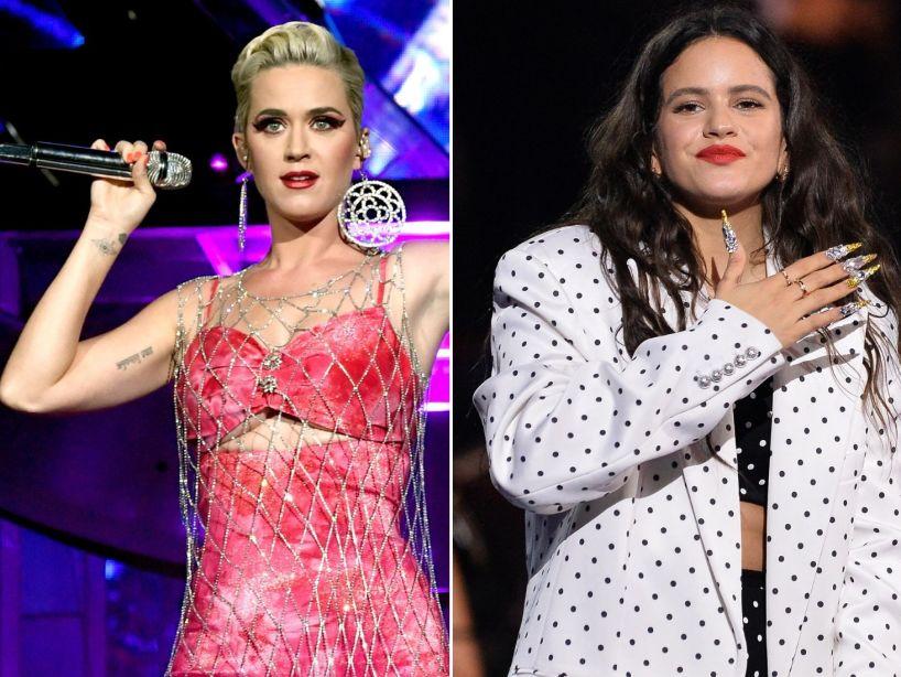 Katy Perry dijo que está enamorada de Rosalía y ella le contestó