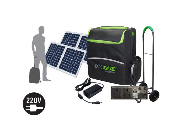 Camping solar panels | Ecoboxx 600 portable | Buy now
