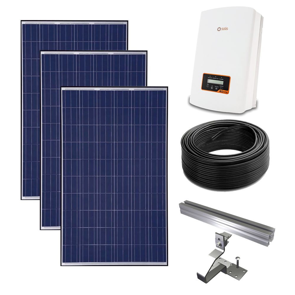 3.3kw Solis Grid-tied solar power kit