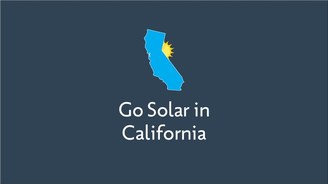 Going Solar in California
