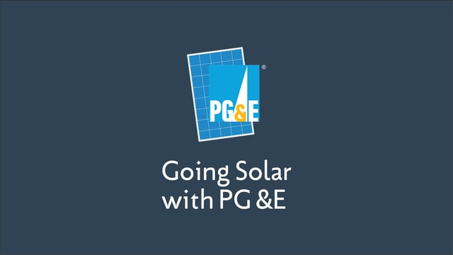 Going Solar with PG&E