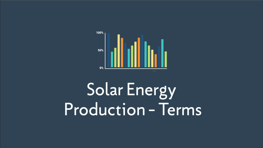 Solar Energy Production Glossary Terms