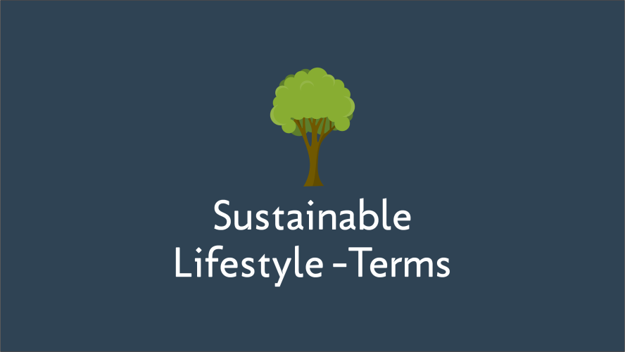 Sustainable Lifestyle Terms