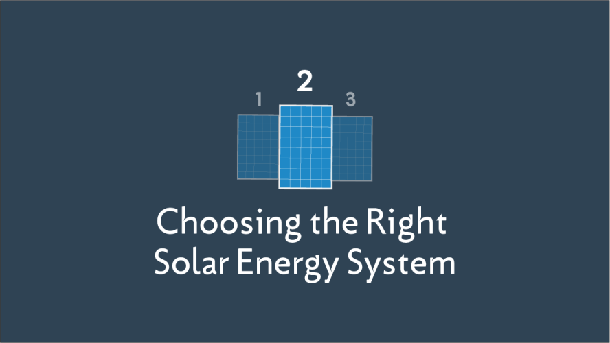 Choosing the Right Solar Energy System