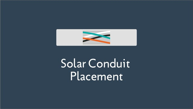 The Importance of Solar Conduit Placement