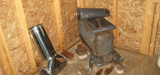 wrecked wood stove
