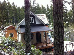 Solar Burrito off grid cabin porch roof
