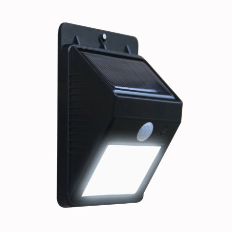 Solar powered LED motion security light