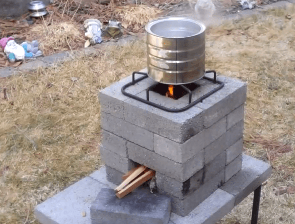 Build a better brick rocket stove for 10 video solar for Brick jet stove