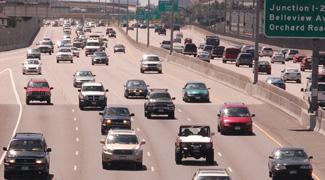 heavy traffic on I-25