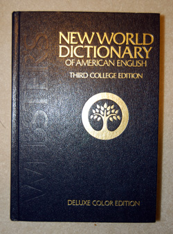 Picture of a dictionary cover