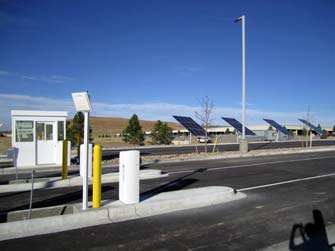 dia-solar-entrance1 u201c & Green parking lands at Denver International Airport ...