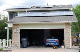 The system, all 26 panels of it, has been installed by 6 p.m. on Day 2 (but not completely hooked up, electronically).
