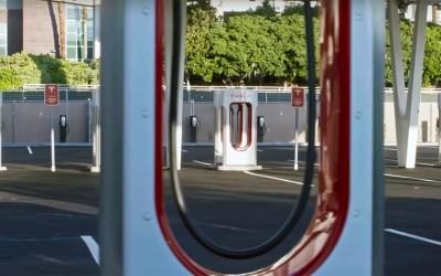Tesla Supercharger station in Las Vegas.