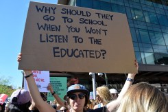 Yes, kids SHOULD get out of school to protest our un-educated status quo of fossil fuel burning.
