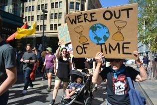 Climate strike protestors in Denver.