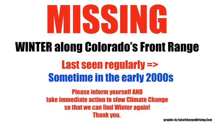 Winter is missing in Colorado graphic