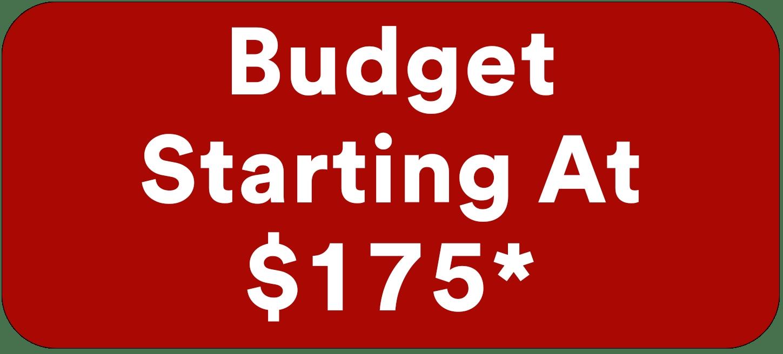 Automotive Window Tinting Budget starts at $175