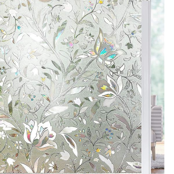 Solardiamond 3D Static Decorative Windows Films - Tulip