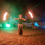 Fire dancer - Party at Solarena Resort, Caba, La Union