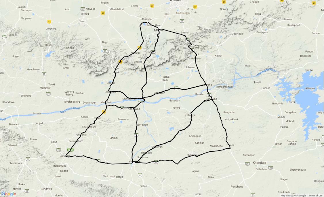 Ouline map