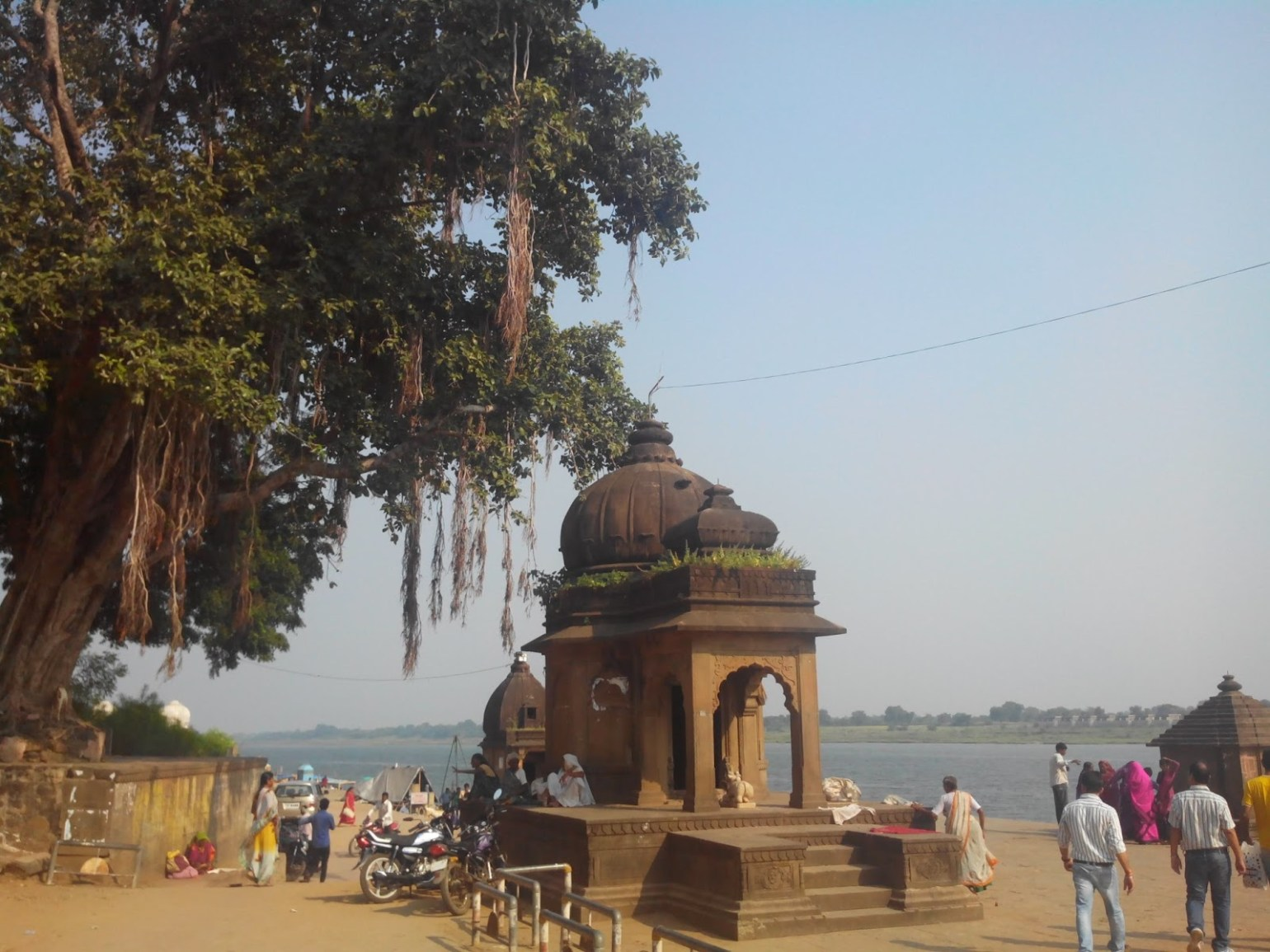 Temples near river bed