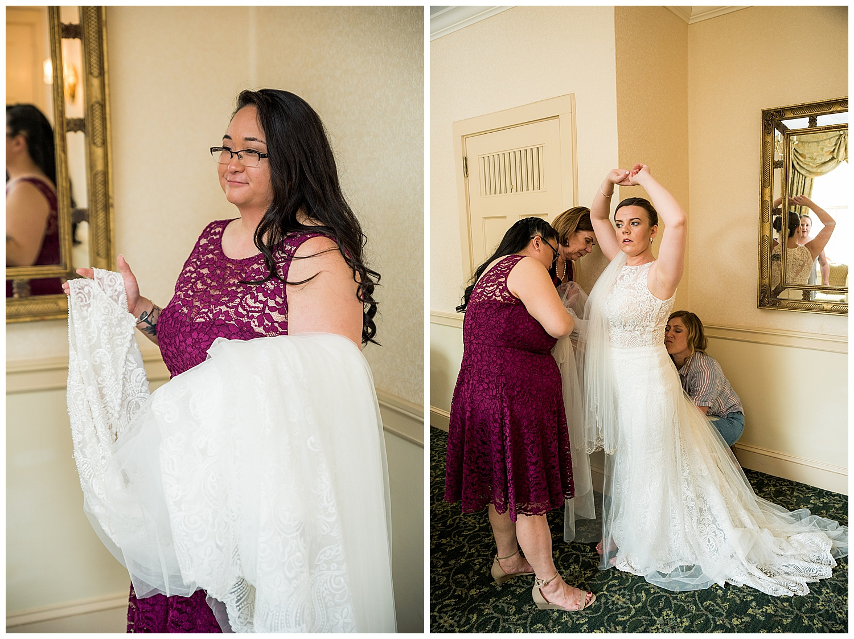 Hawthorne Hotel Wedding - bride getting ready