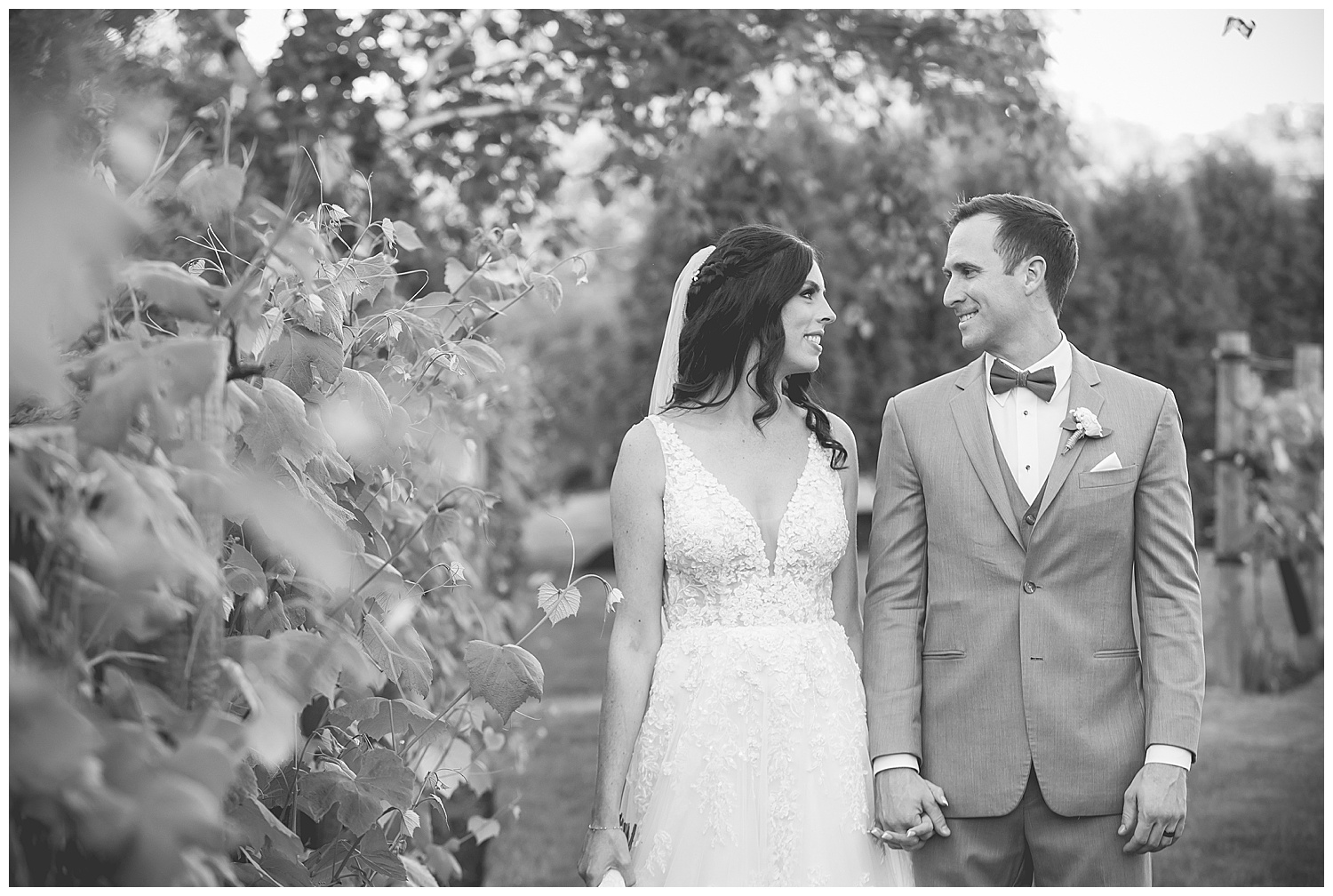 Birch Wood Vineyards Wedding Bride and Groom Portraits