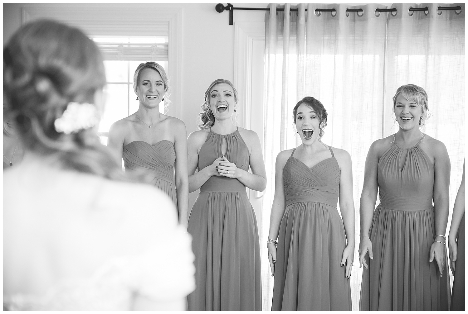 2Owl's Nest White Mountain Wedding - Bridesmaid Reveal, First Look at the Dress