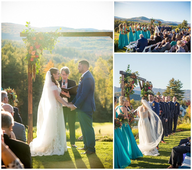 Owl's Nest White Mountain Wedding - October Ceremony